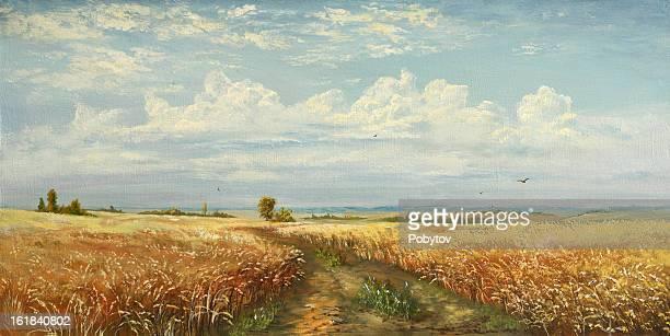 ilustraciones, imágenes clip art, dibujos animados e iconos de stock de planta de trigo - producto artístico