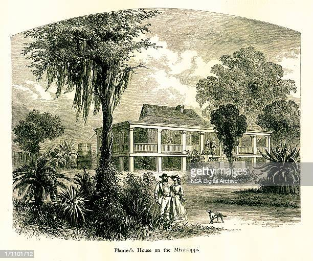 Planter's House on Mississippi River, USA | Historic American Illustrations