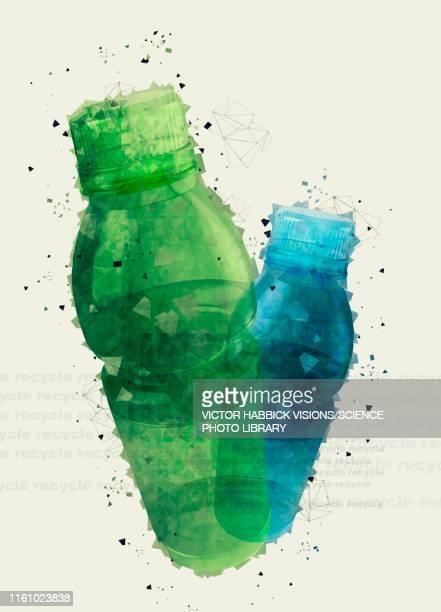 plastic bottles, illustration - plastic stock illustrations