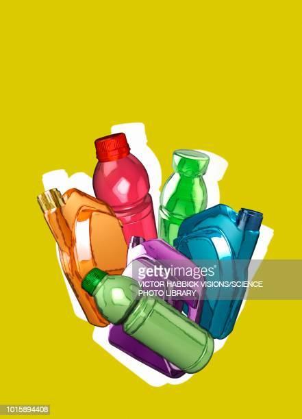 plastic containers, illustration - plastic stock illustrations