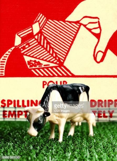 plastic cow grazing - calcium stock illustrations, clip art, cartoons, & icons