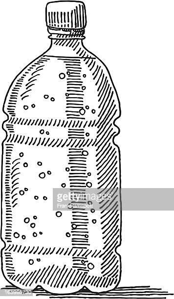 plastic water bottle drawing - water bottle stock illustrations, clip art, cartoons, & icons