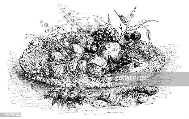 60 top full plate of food stock illustrations clip art for Disegni da colorare ciliegie