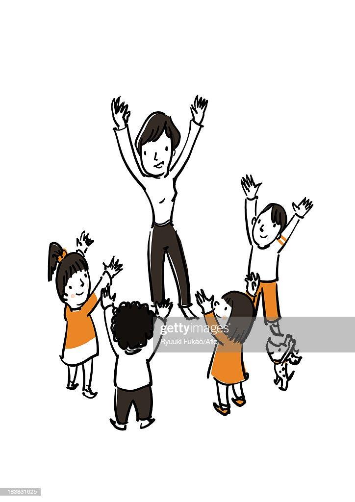 Play together illustration : Stock Illustration