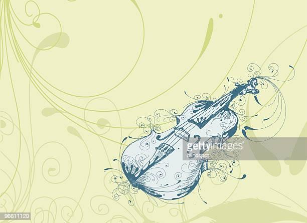 playful violin - violin stock illustrations, clip art, cartoons, & icons