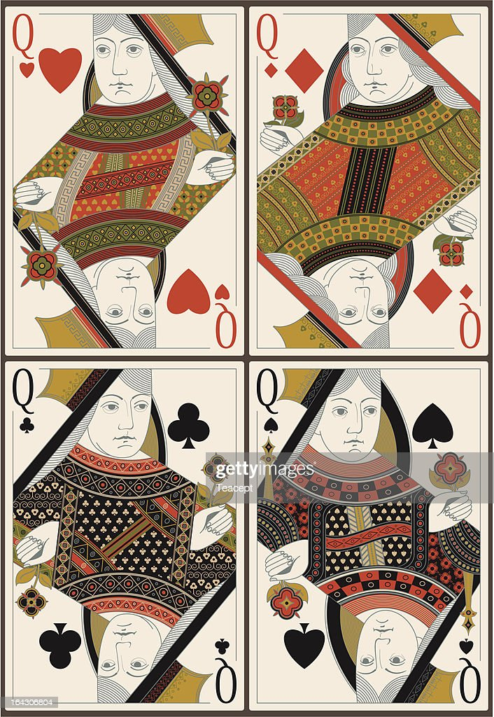 playing cards- queens - vector
