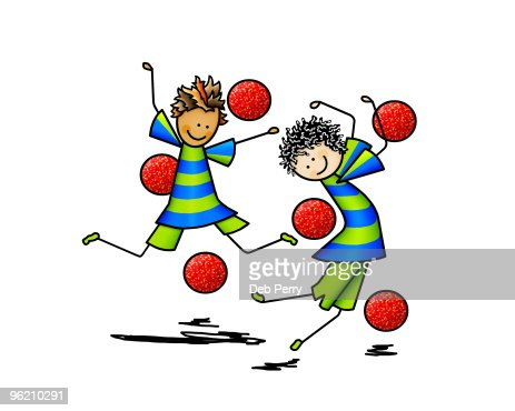 Playing Dodgeball Stock Illustration | Getty Images