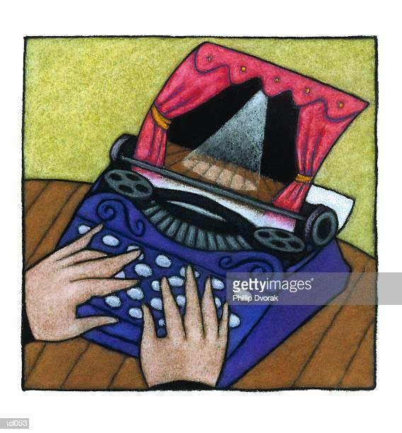 playwright at work - film script stock illustrations, clip art, cartoons, & icons
