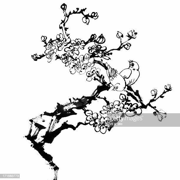 60点の梅の花のイラスト素材クリップアート素材マンガ素材