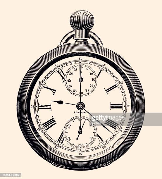 pocket watch (xxxl) - the past stock illustrations