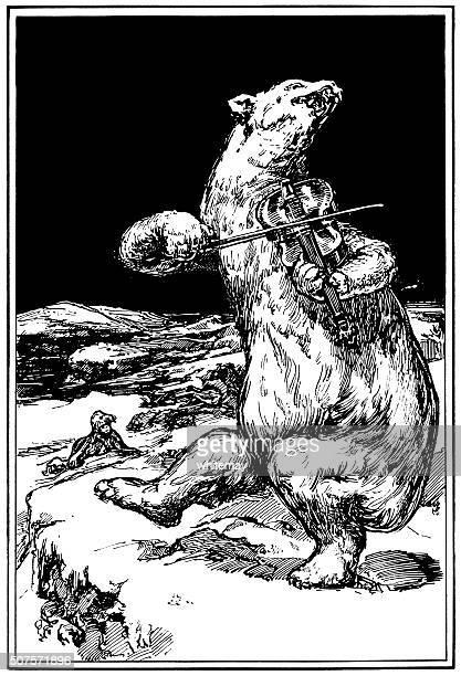 illustrations, cliparts, dessins animés et icônes de ours polaire de danse et jouant du violon - dancing bear
