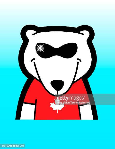 Proud tshirt getty images polar bear wearing canadian tshirts and sunglasses voltagebd Gallery