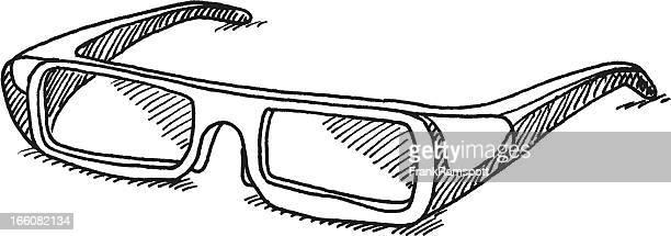 Polarized óculos 3D desenho