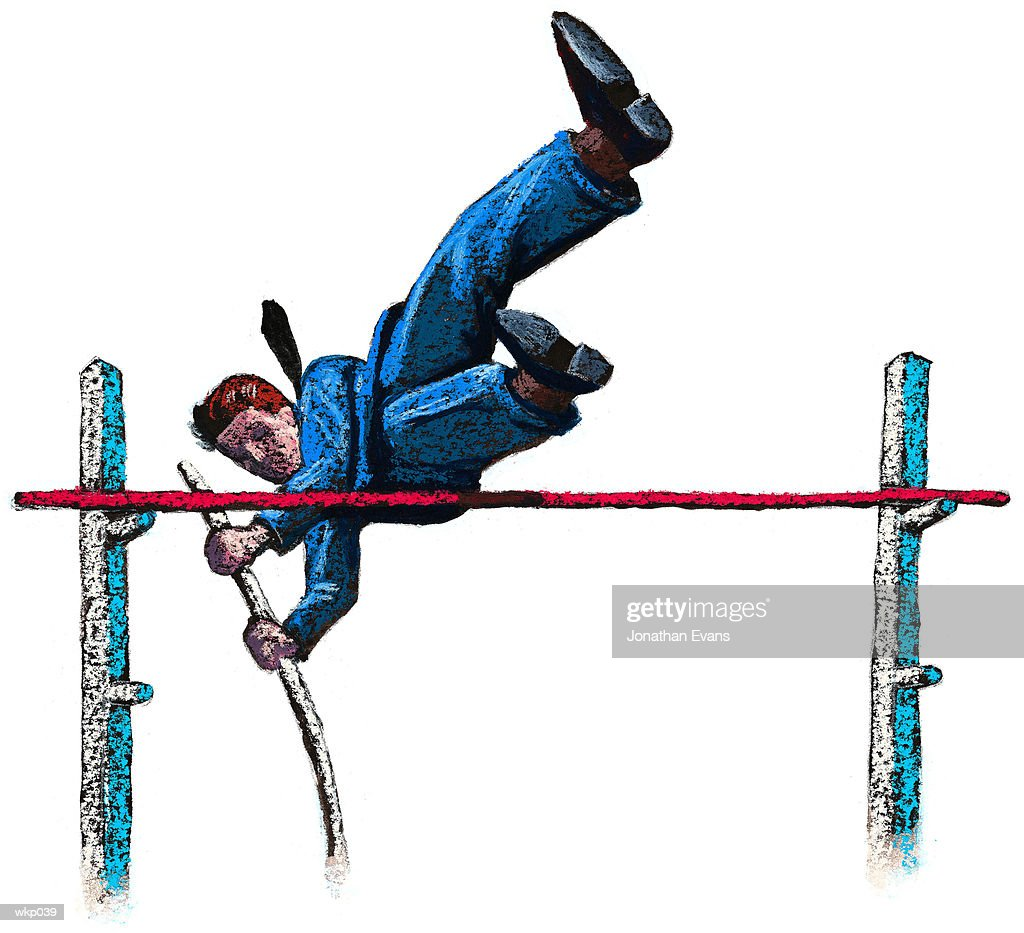 Pole Vaulter : Stock Illustration