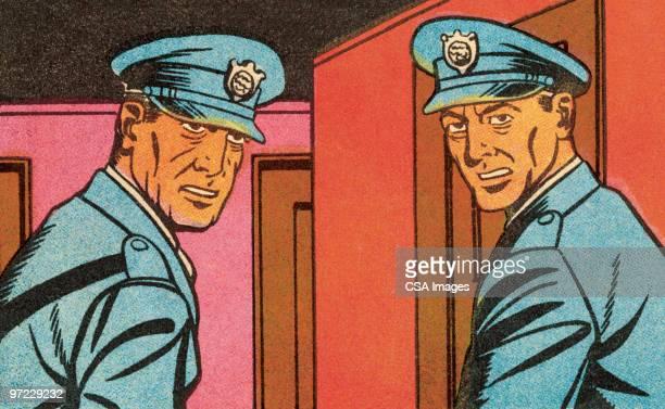 police - 人の頭点のイラスト素材/クリップアート素材/マンガ素材/アイコン素材