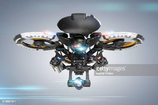 ilustraciones, imágenes clip art, dibujos animados e iconos de stock de police surveillance drone - drone