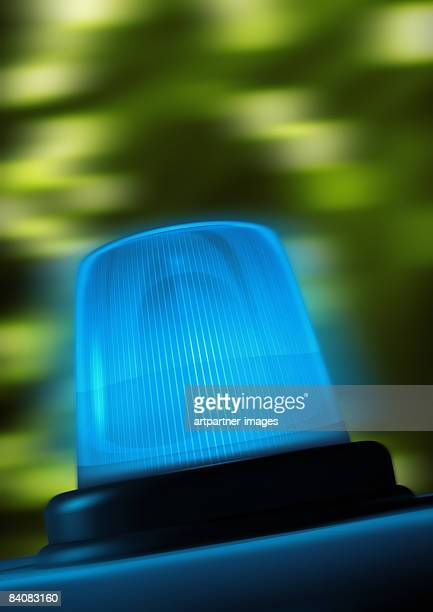 police with lighted blue lamp, blue light flashing - police vehicle lighting stock illustrations