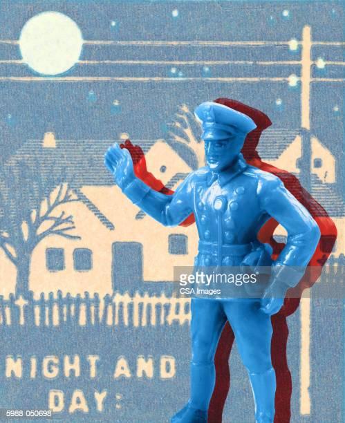 policeman figurine - uniform stock illustrations