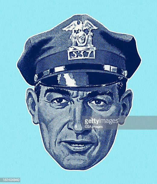 Policeman Wearing Hat