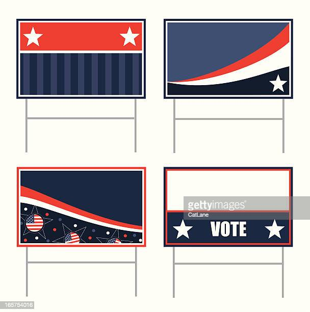 political banners - political campaign stock illustrations, clip art, cartoons, & icons