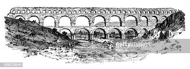 Pont du Gard, acueducto romano antiguo