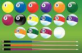 Pool Balls and Cues
