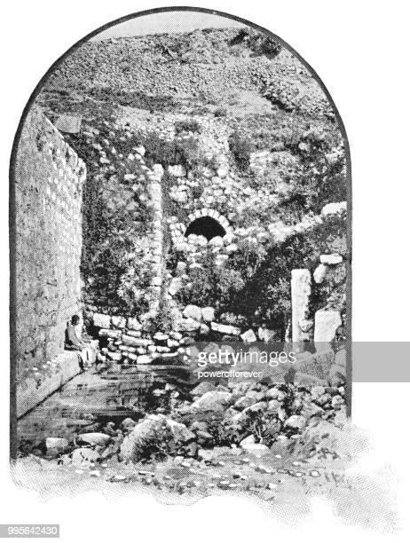 Estanque de Siloé en Jerusalén, Israel - Imperio otomano