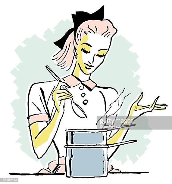a pop art style portrait of a chef - tiziano vecellio stock illustrations, clip art, cartoons, & icons