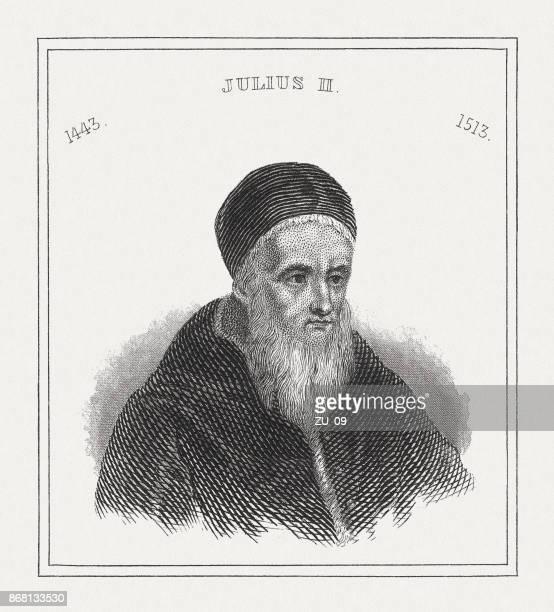 Pope Julius II (1443 - 1513), steel engraving, published in 1843