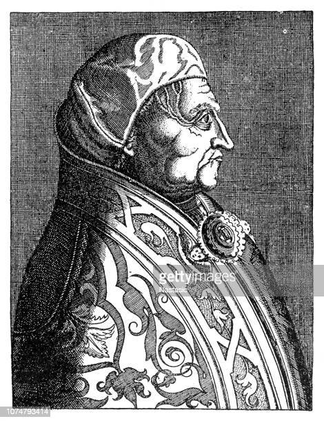 pope pius ii (enea silvio piccolomini, corsignano, 1405-ancona, 1464) - religious dress stock illustrations, clip art, cartoons, & icons