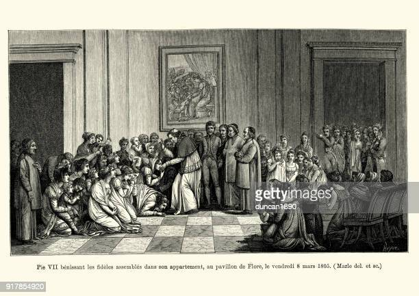 Pope Pius VII blessing the faithful, 1805