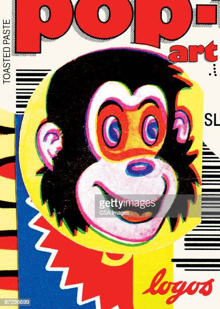 pop-monkey - chimpanzee stock illustrations, clip art, cartoons, & icons