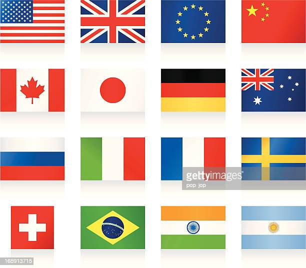 popular flags - flag stock illustrations