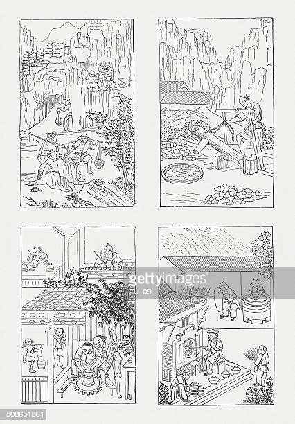 Porcelain production at the Chinese in old tradition, published 1877