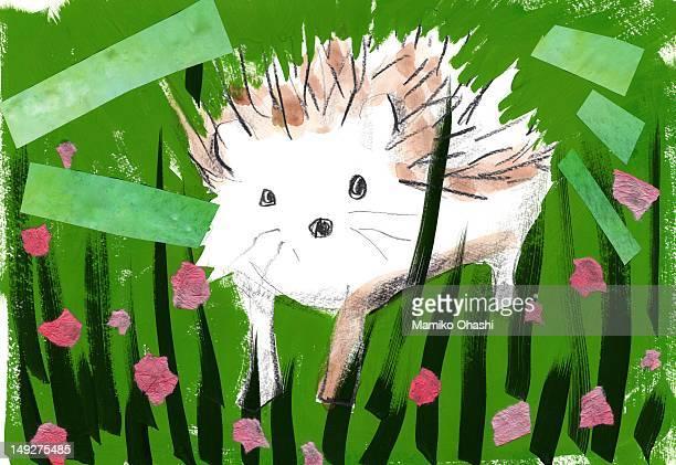 a porcupine - ヤマアラシ点のイラスト素材/クリップアート素材/マンガ素材/アイコン素材