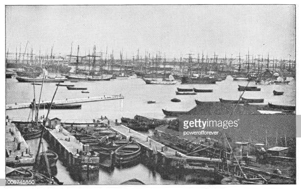 Port of Alexandria in Alexandria, Egypt - Ottoman Empire