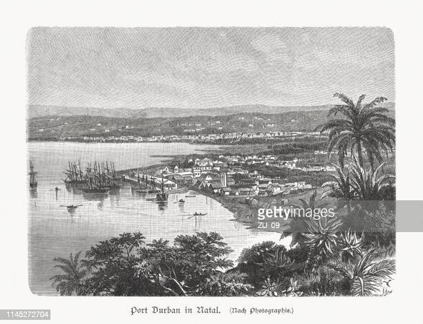 Port of Durban, KwaZulu-Natal, South Africa, wood engraving, published 1897