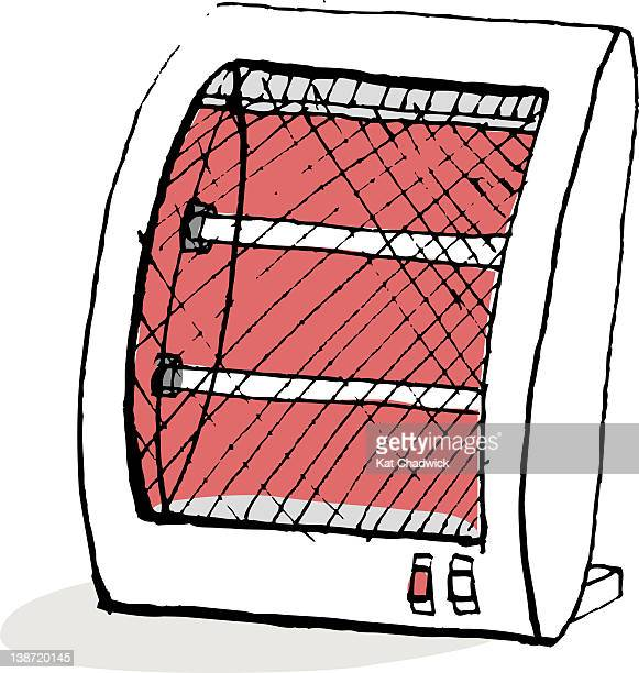 portable heater - electric heater stock illustrations, clip art, cartoons, & icons