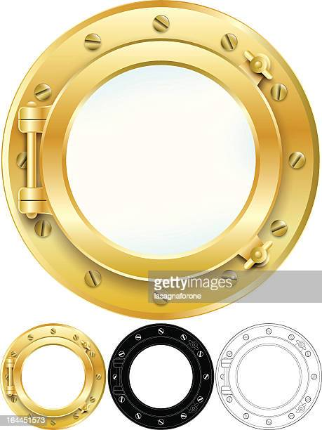 porthole - pirate boat stock illustrations, clip art, cartoons, & icons
