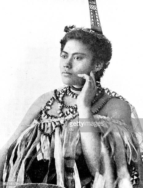 portrait african woman - samoa stock illustrations, clip art, cartoons, & icons