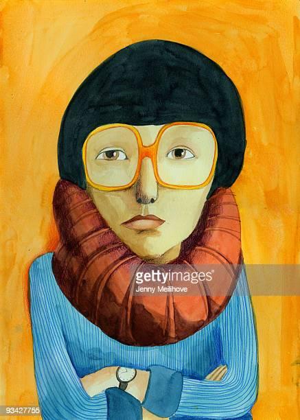 portrait - painted image stock illustrations