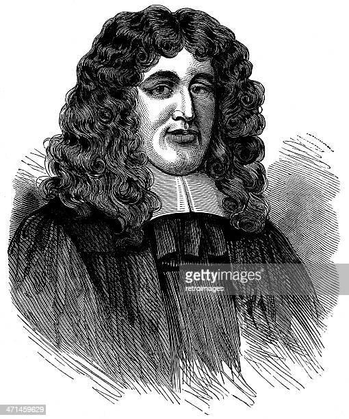 Portrait of 17th Century Popish Plot conspirator Titus Oates (illustration)