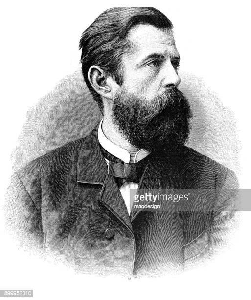 illustrations, cliparts, dessins animés et icônes de portrait d'un homme de barbe - 1896 - moustache