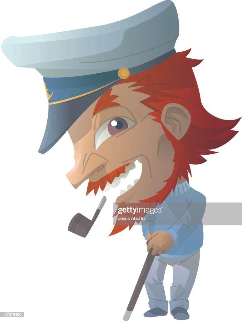 Portrait of a captain : Illustration