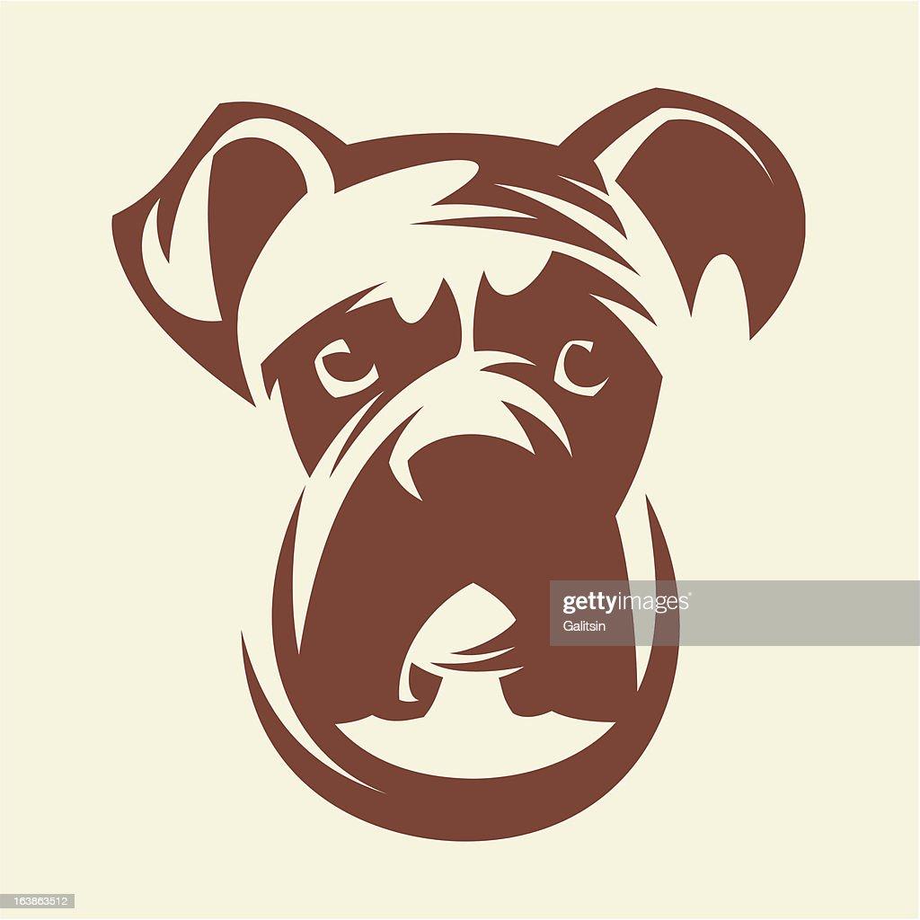 Portrait of a dog the Boxer