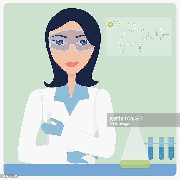 Portrait of a female technician standing in a laboratory