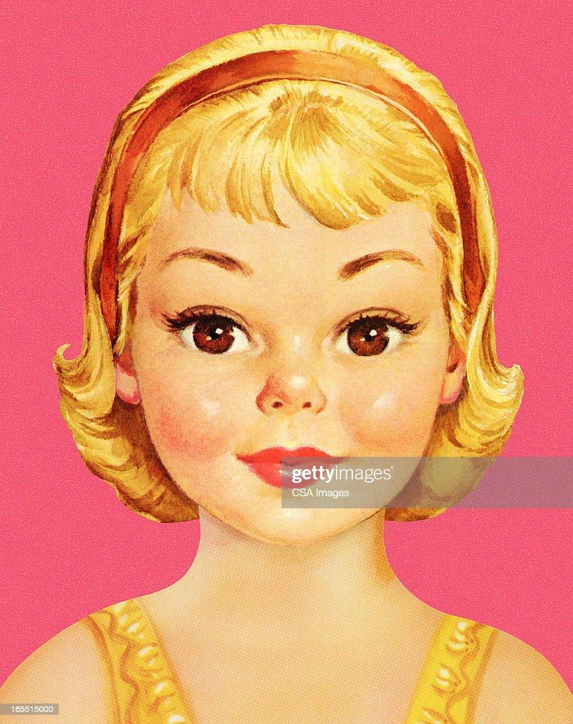 Portrait of a Girl : stock illustration