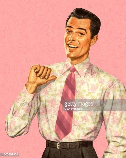 portrait of a handsome man - only men stock illustrations