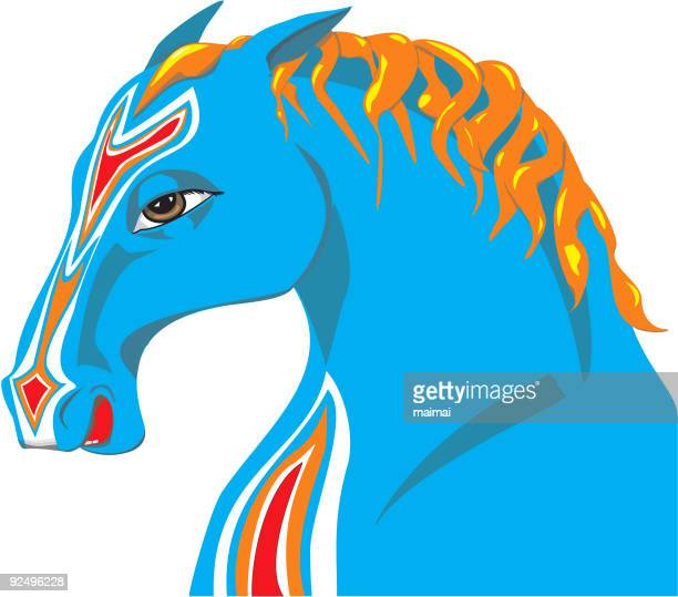 portrait of a horse - mare stock illustrations, clip art, cartoons, & icons