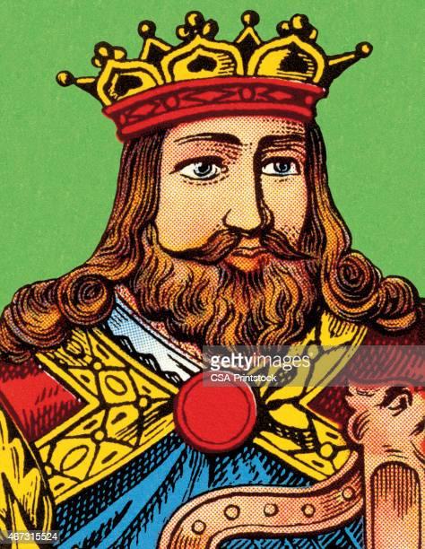 ilustrações de stock, clip art, desenhos animados e ícones de retrato de um rei - cavanhaque
